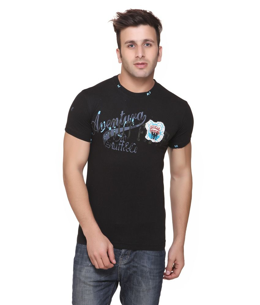 Aventura Outfitters City Of La Black Round Nack T-shirt