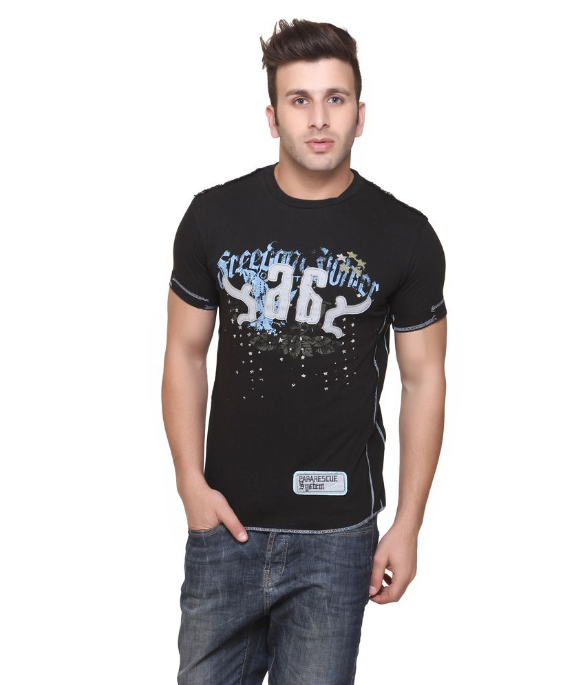 Aventura Outfitters Ross Black Round Nack T-shirt