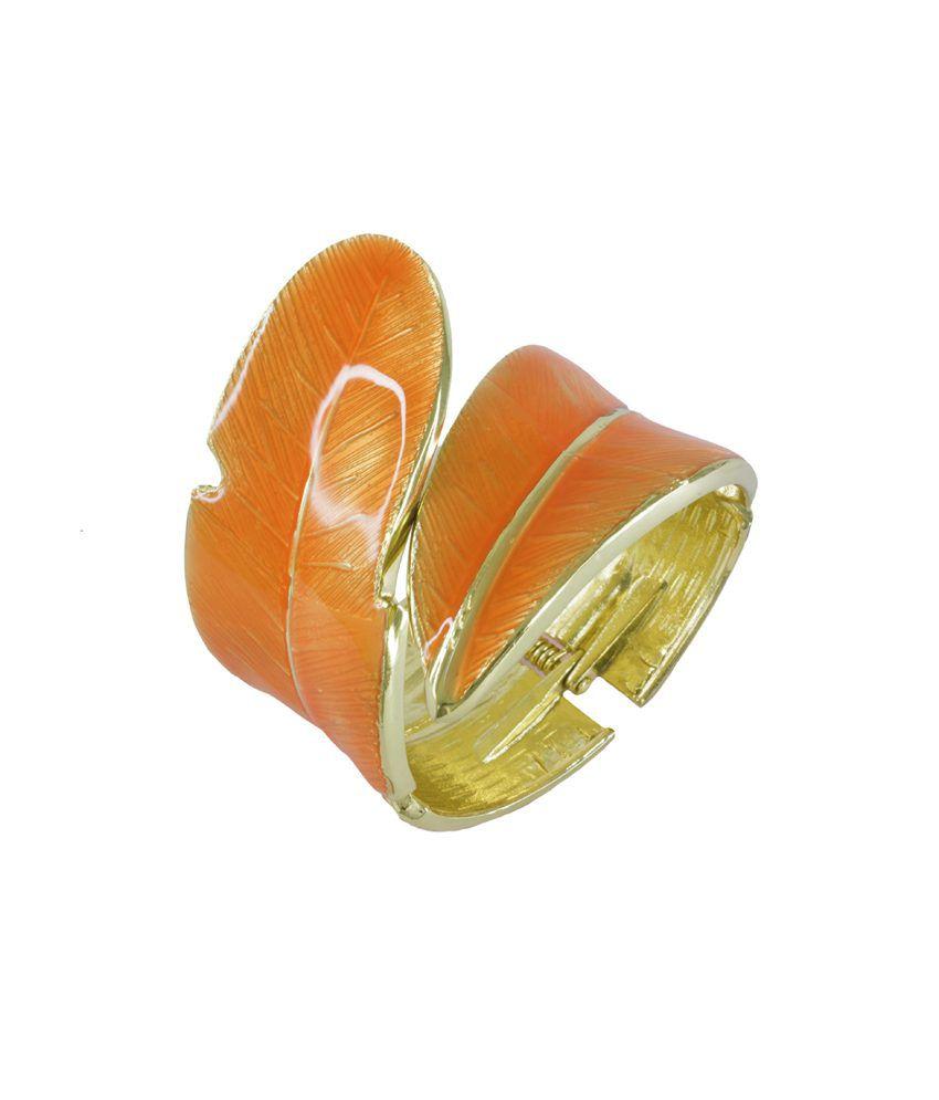 Bg's Golden & Orange Style Diva Bracelet
