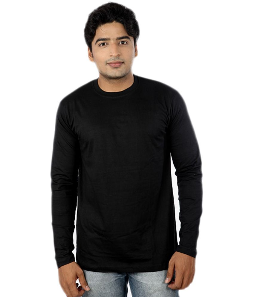Joke Tees Black Cotton Full Sleeve Round Neck T-shirt - Buy Joke ...