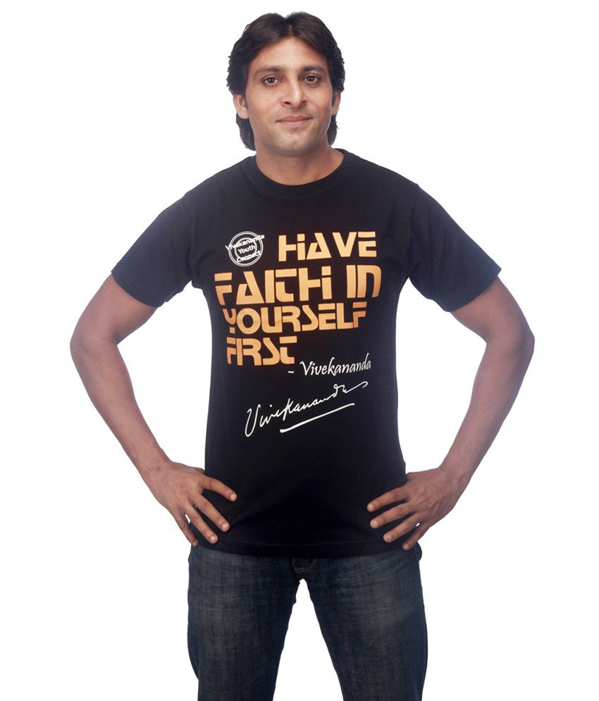 Vivekananda Youth Connect Have Faith In Yourself First Mens Tshirt