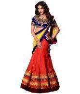 Resham Fabrics Shop Online Today Orange  Blue Chitrangda Singh Lehnga With Lace Workrf7908