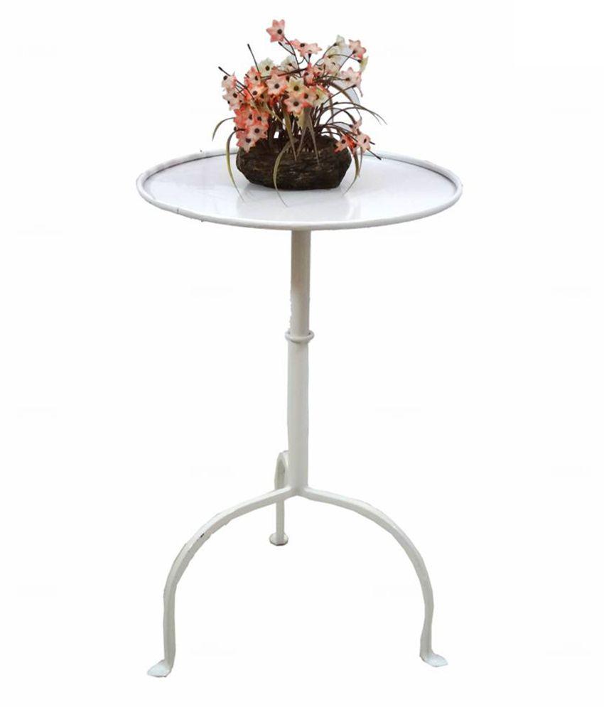 Artlivo Popart White Side Table Ta018