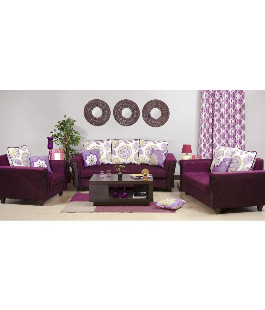 hometown savanna fabric 3 2 1 sofa set buy hometown. Black Bedroom Furniture Sets. Home Design Ideas