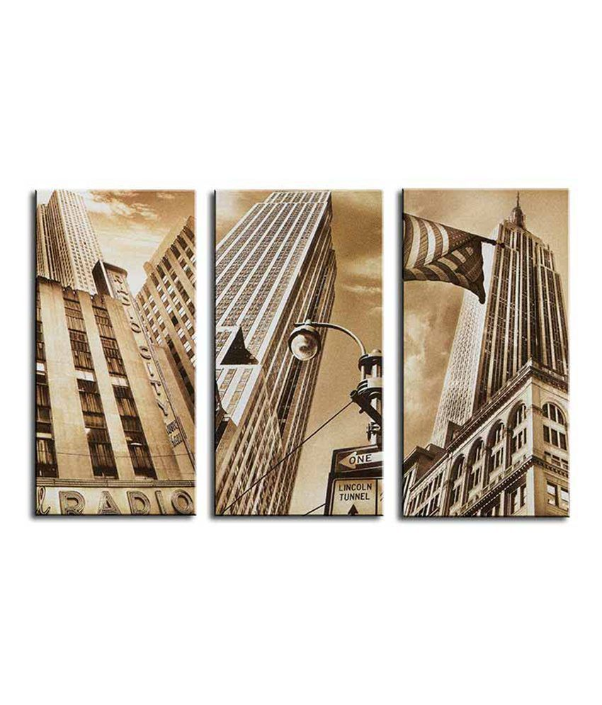 Painting Mantra New York City 3 Piece Canvas Art Set