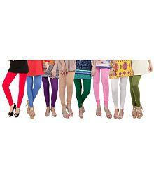 Dailywear Poly-viscose Leggings - Pack Of 8