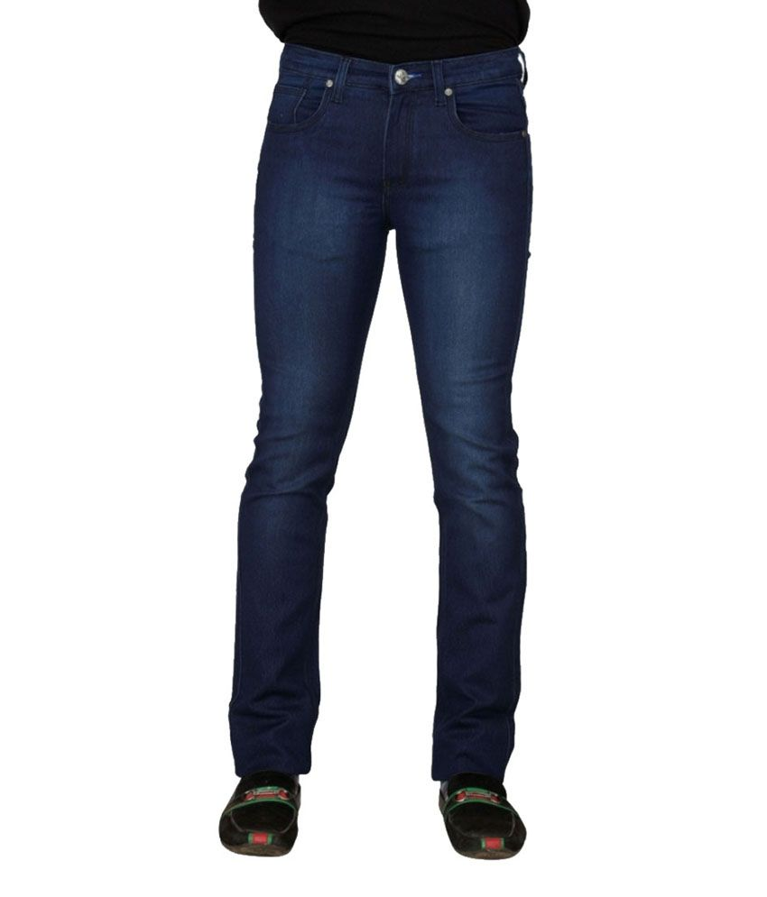 Clubfox Blue Cotton Slim Fit Jeans