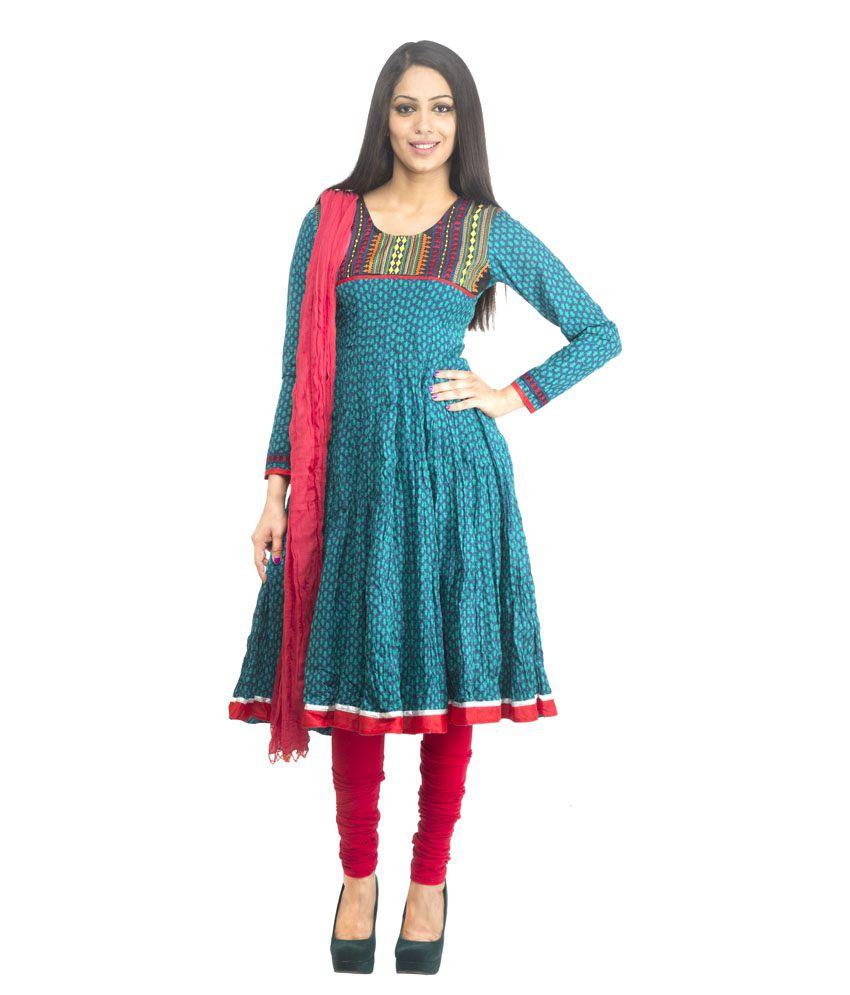 Rama Anarkali Suit - Buy Rama Anarkali Suit Online at Low Price ...