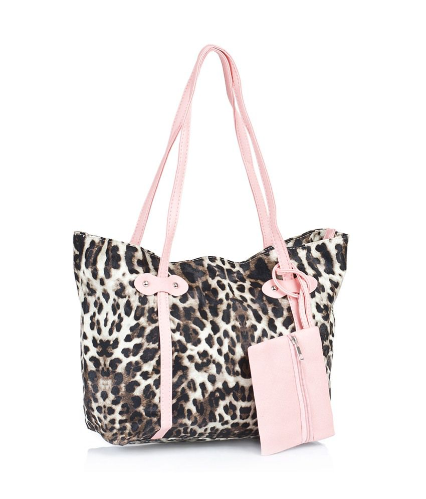 1 Bolzo Si-tiger-pnk Brown Shoulder Bags