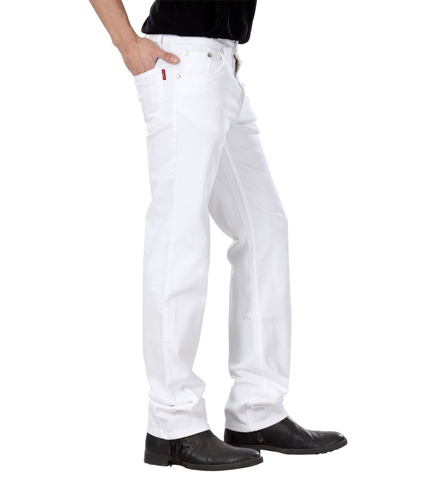 Dragaon Relax Fit White Jeans - Buy Dragaon Relax Fit White Jeans