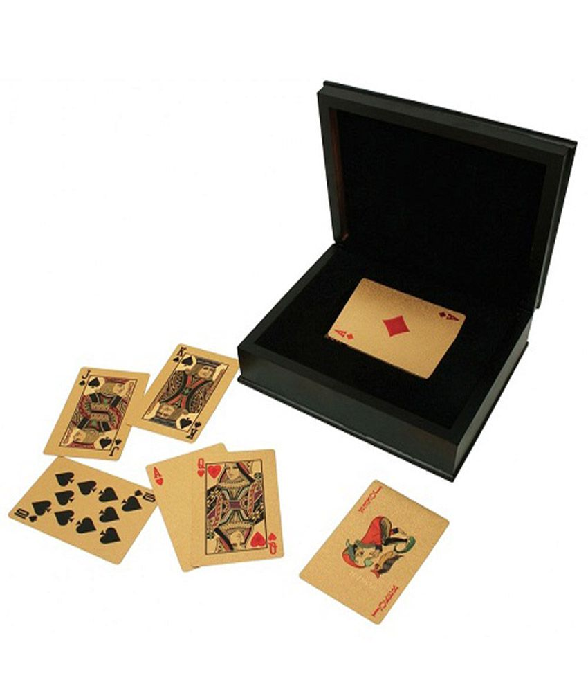 Excluzy 24k Gold Plated 100 Euro Playing Cards
