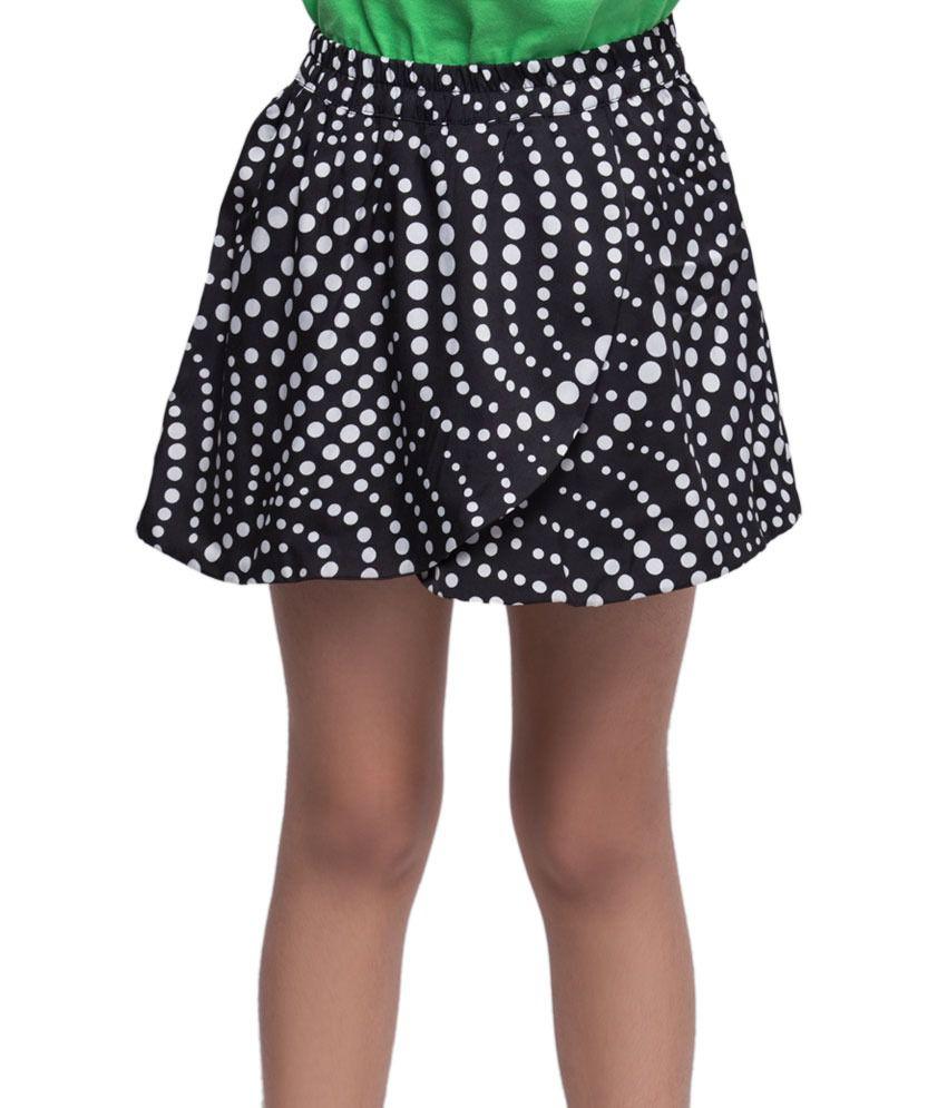 OXOLLOXO Black Color Skirts For Kids