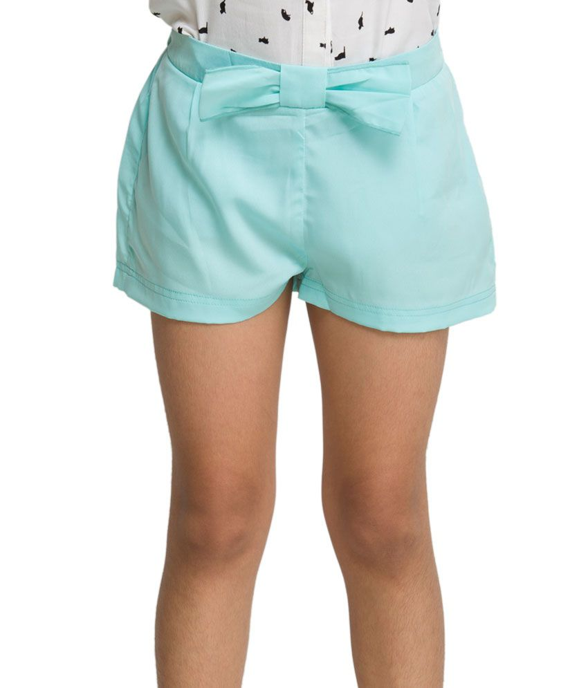 OXOLLOXO Green Color Shorts For Kids