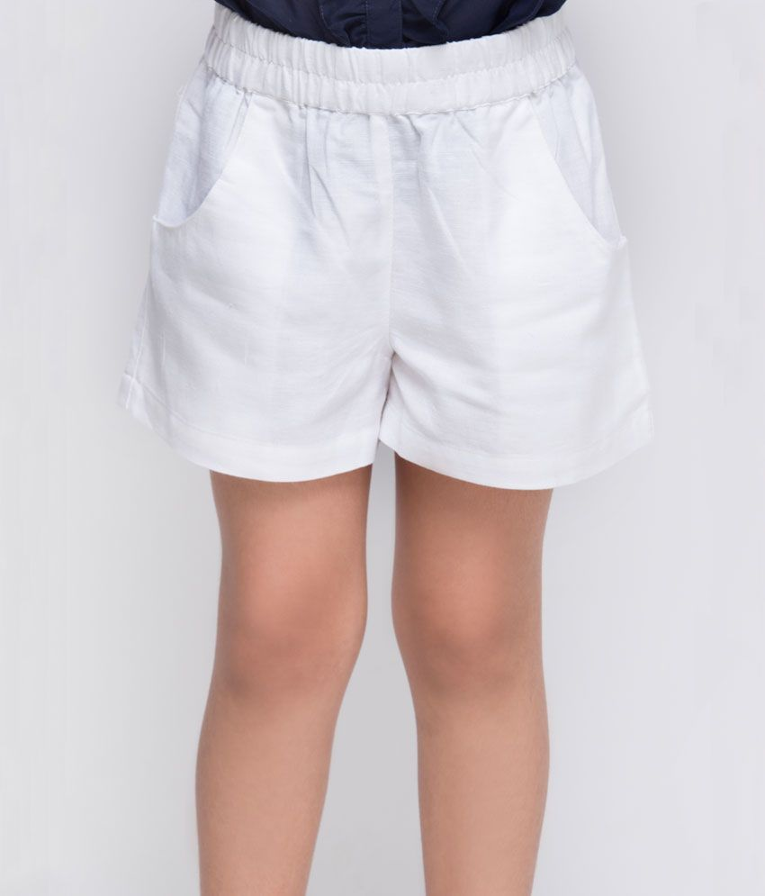 OXOLLOXO White Color Shorts For Kids