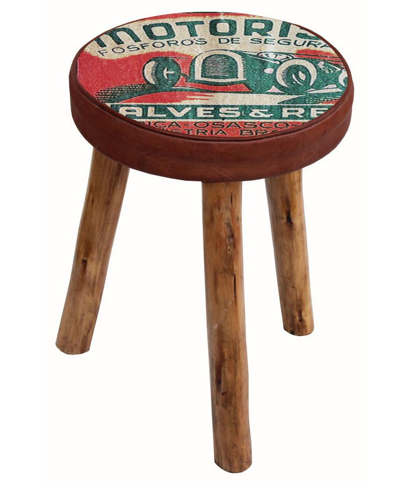 Solid Wood Motorist Stool Buy Online At Best Price In India On Snapdeal
