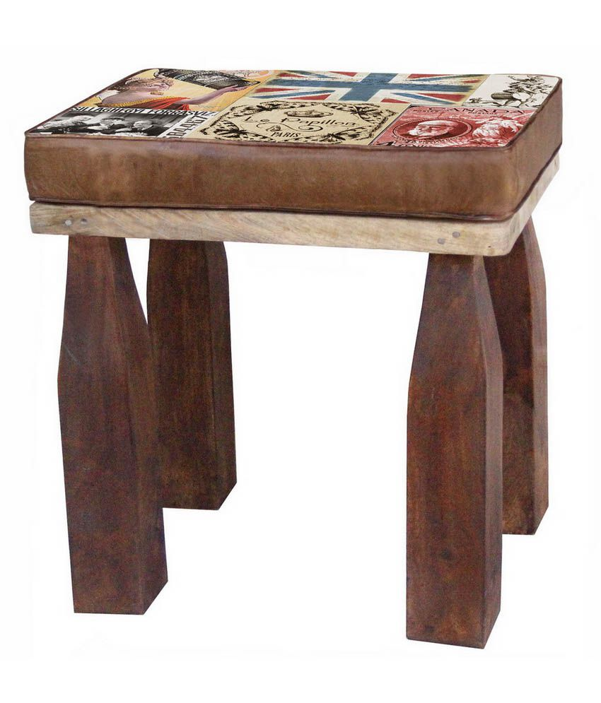 Wondrous Solid Wood Stool Buy Solid Wood Stool Online At Best Prices Caraccident5 Cool Chair Designs And Ideas Caraccident5Info