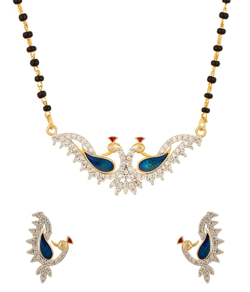 Voylla Mangalsutra Set Inspired By Peacock Motif