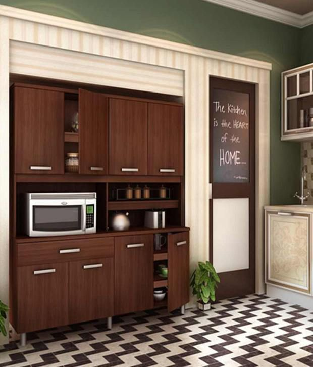 Buy Housefull Era Kitchen Cabinet Oak Online At Best Prices