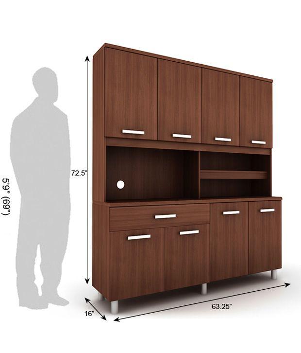 Housefull Era Kitchen Cabinet Oak