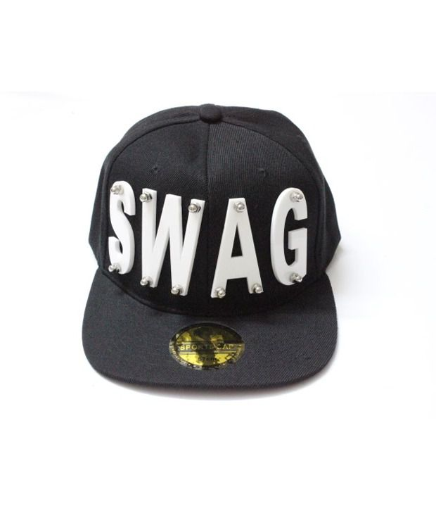 af0b478969e TakeInCart SWAG 3D Snapback   Hiphop Caps (Black) - Buy Online   Rs ...