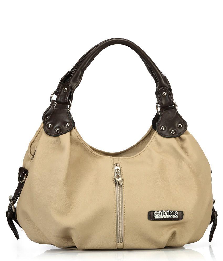 Calvino CL_568_KHAKI Khaki Shoulder Bags