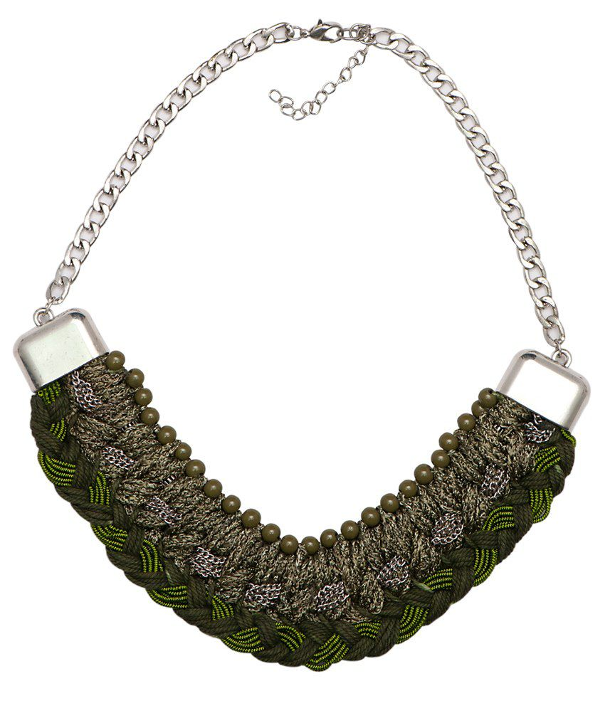 Fejour Green Style Diva Contemporary Olive Fashion Necklace Necklace