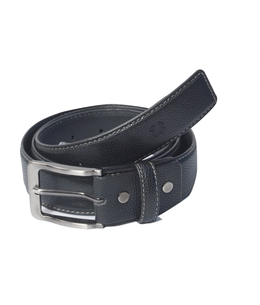 Hidea Faux Leather Belt Black