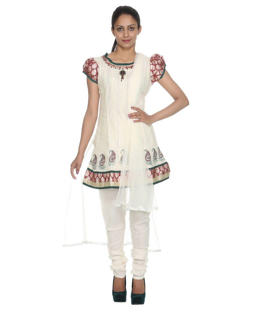 Rajrang White Cotton Stitched Salwar Suit