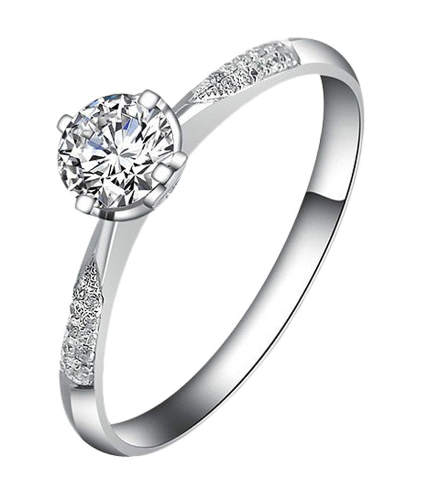 Amogh Jewels Amazing Natural Diamond 92.5 Sterling Silver Ring