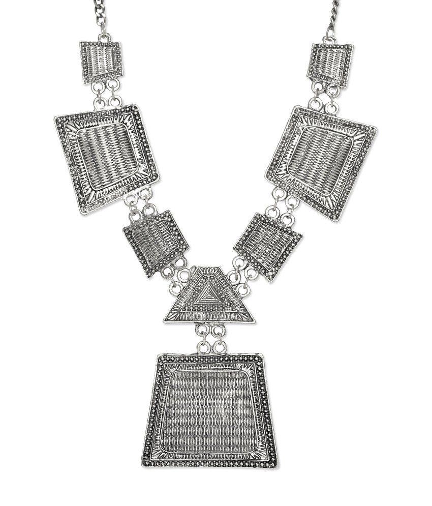 Art Mannia Bold Long Metal Necklace
