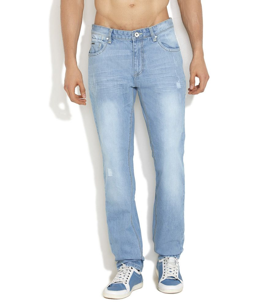Indigo Nation Medium Blue Rugged & Tough Distressed Jeans