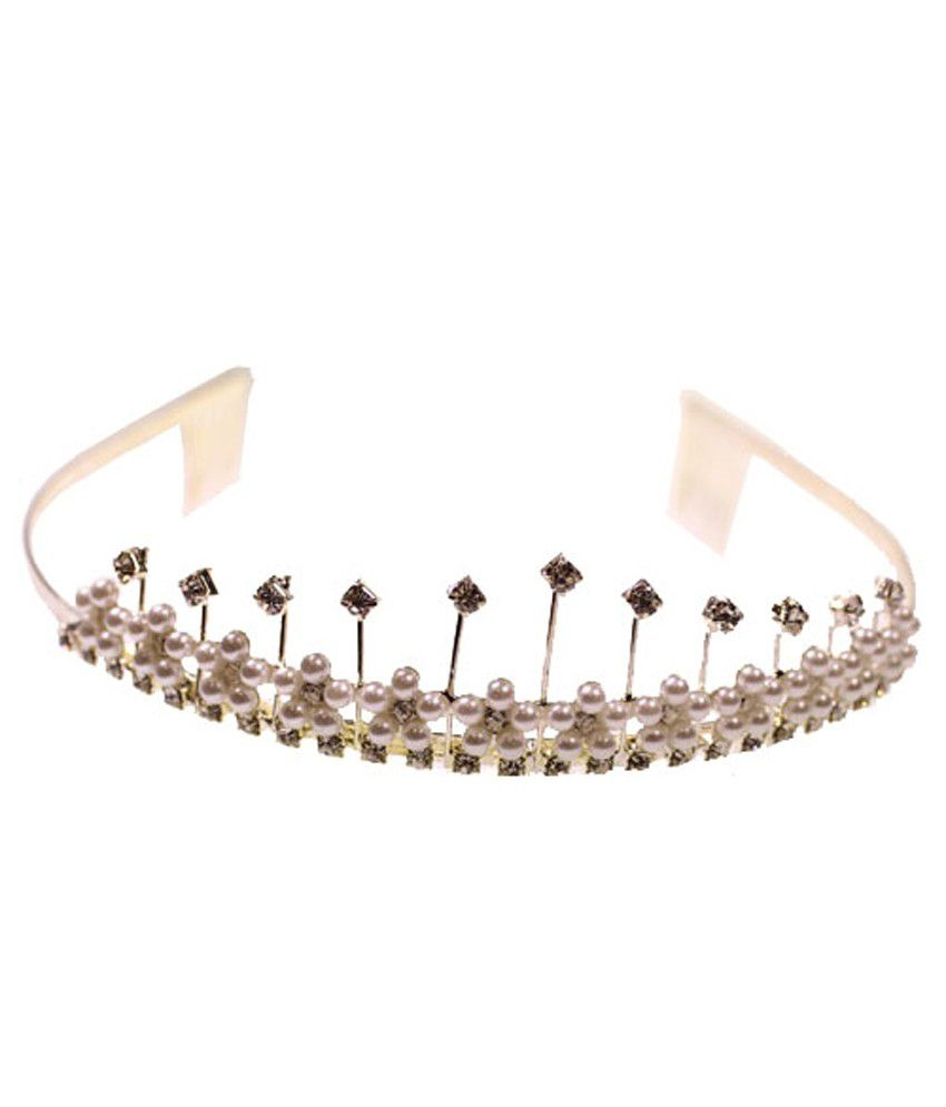 Hair accessories online snapdeal - Kurtzy Silver Wedding Bridesmaid Tiara Crystal Hair Band