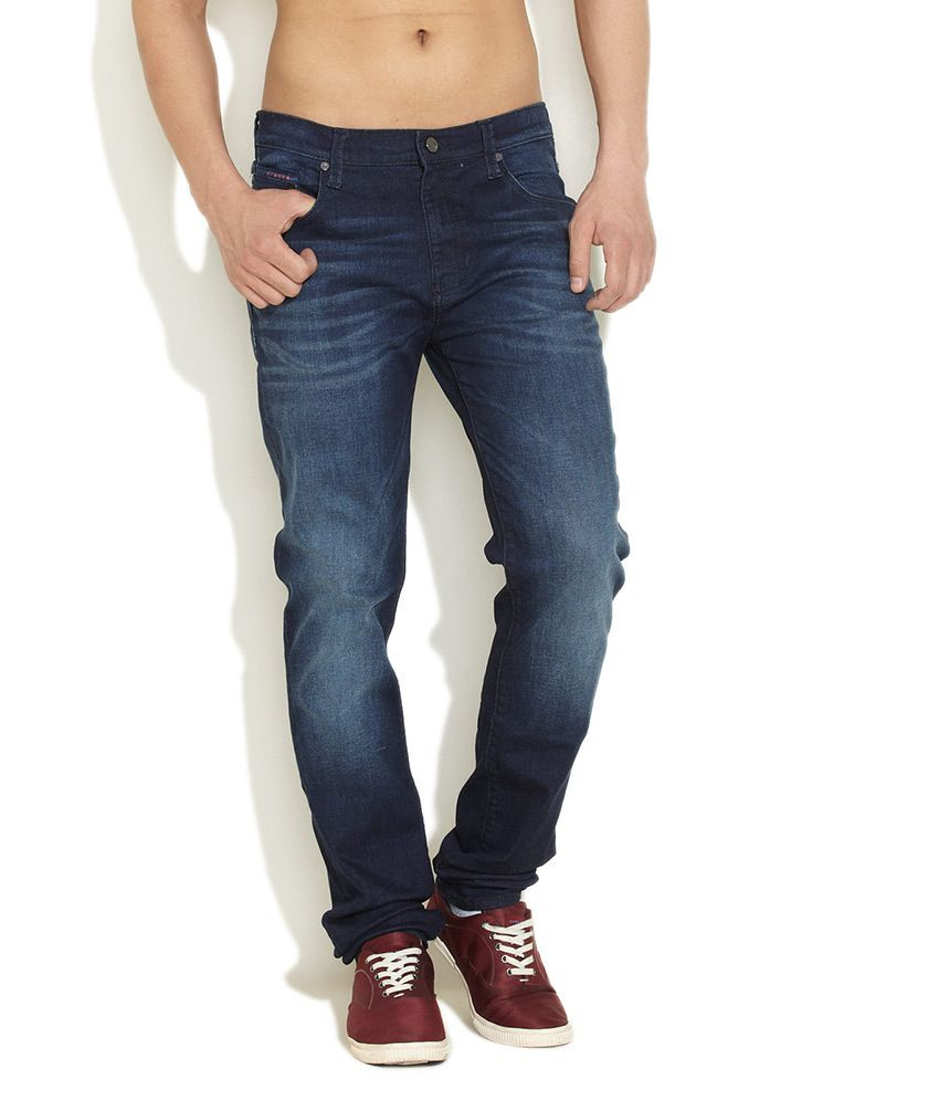 Lee Medium Blue Paint The Town Red Jeans