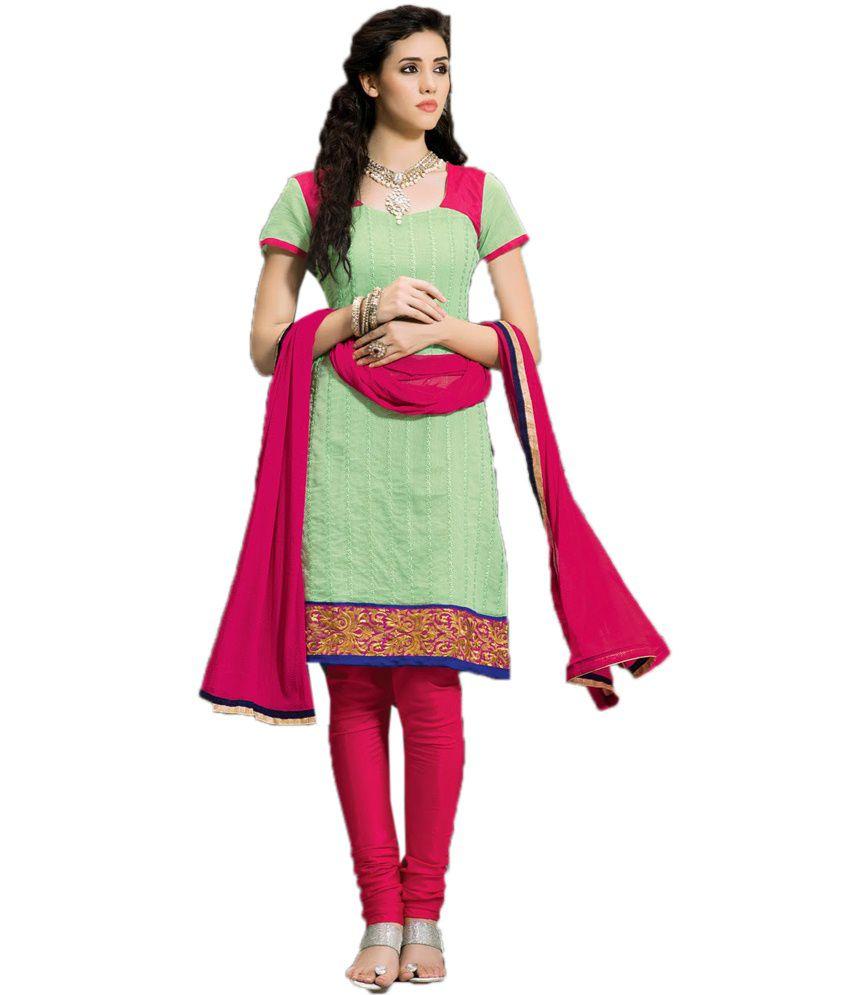 359391d595 Riya Fashion Sea Green Cotton Designer Embroidered Dress Material - Buy  Riya Fashion Sea Green Cotton Designer Embroidered Dress Material Online at  Best ...