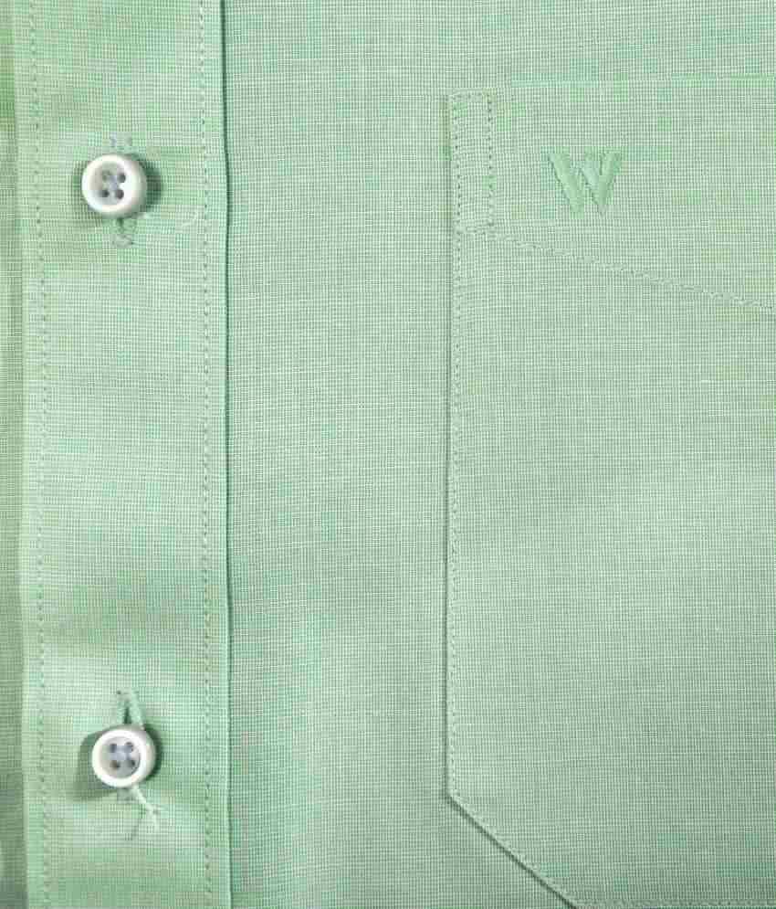 white house pista green solid regular fit formal shirt buy white