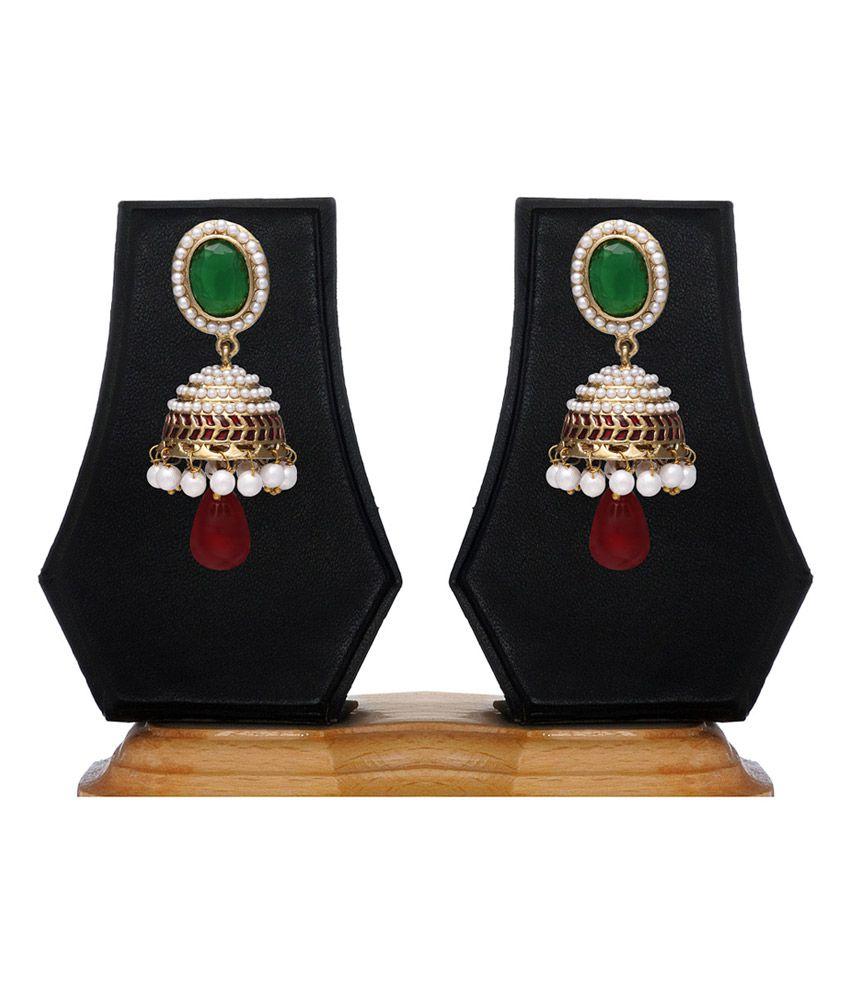 Zaveri Pearls Multicolour Style Diva Jhumki Designer Earring