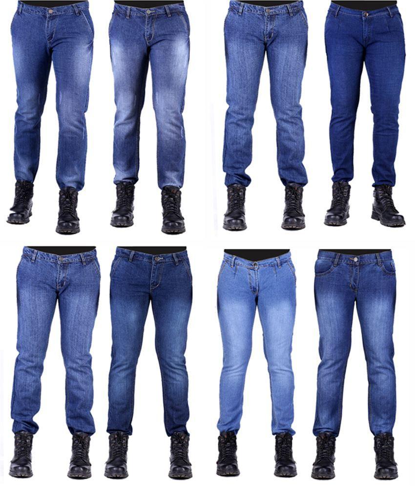 Haltung Men's Jeans Combo Of 8 Denim