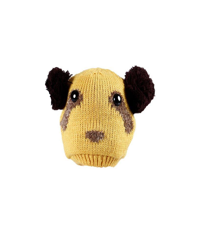 Innovationthestore Unisex Yellow Woolen And Winter Cap