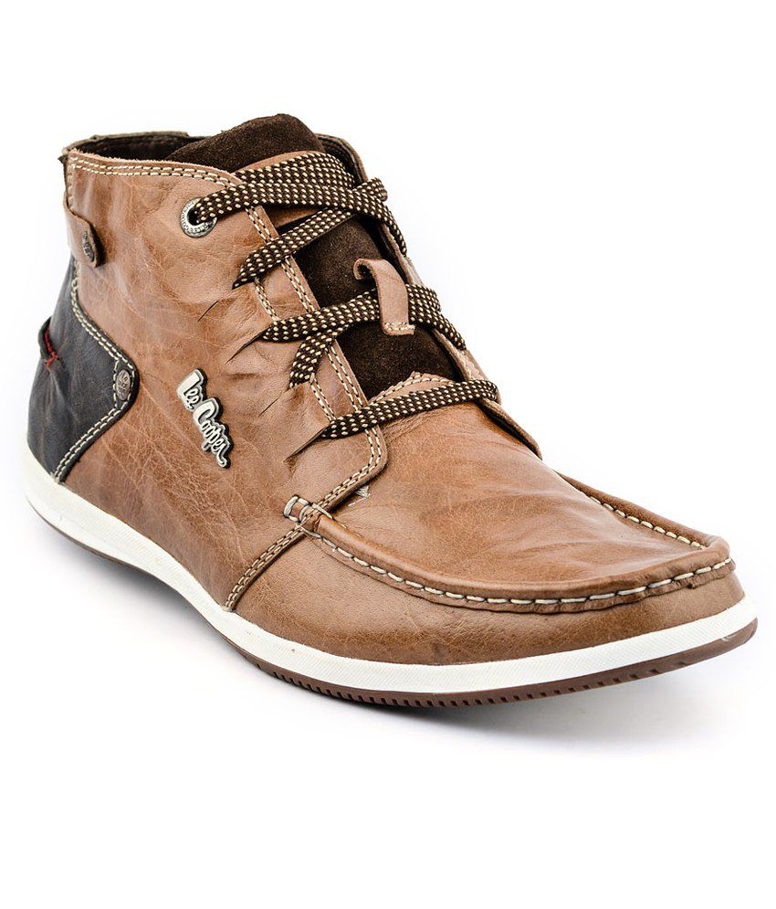 lee cooper tan casual shoes price in india buy lee cooper