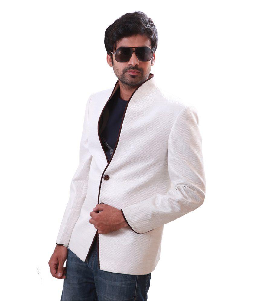 Runako White Linen Blazer - Buy Runako White Linen Blazer Online ...