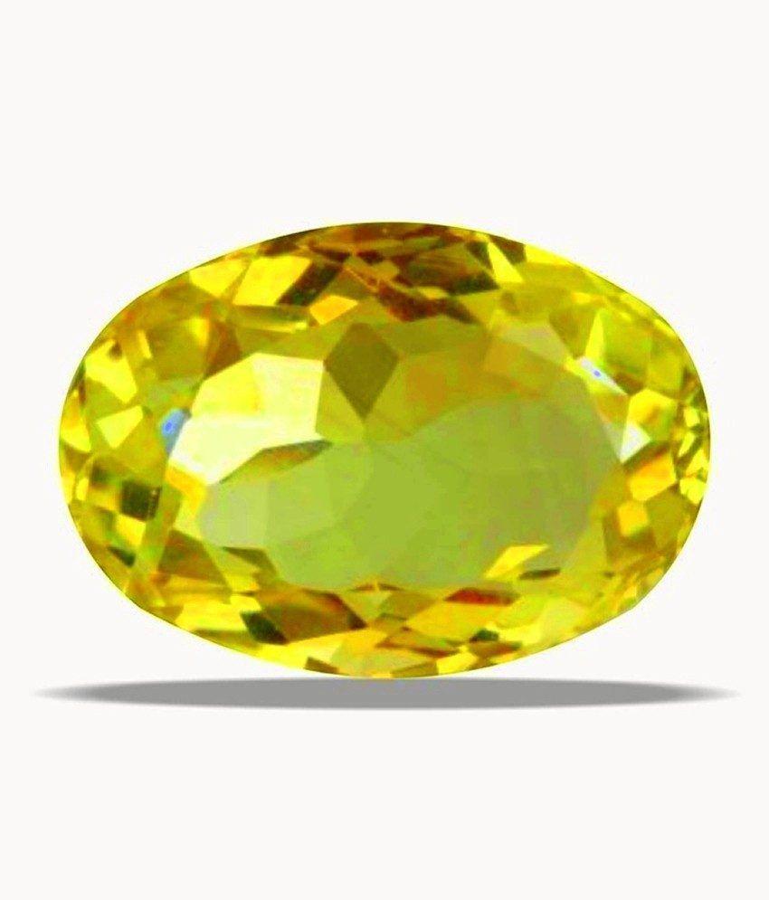 A1 Gemstones Treasures Certified Gemstone Natural Citrine (sunehala / Guru) Of 6.23 Ratti ( 5.66 Carat ), Standard Category