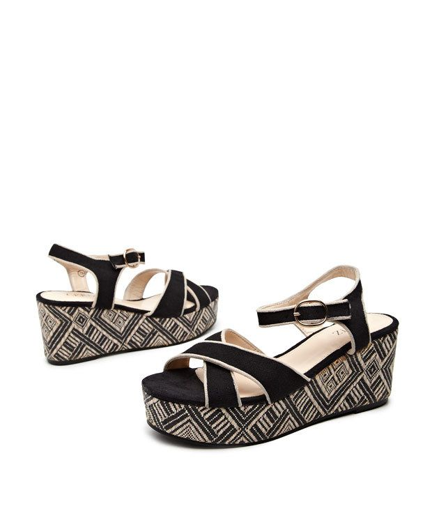 Ceriz Black Boho Tribal Woven Wedges Price in India Buy