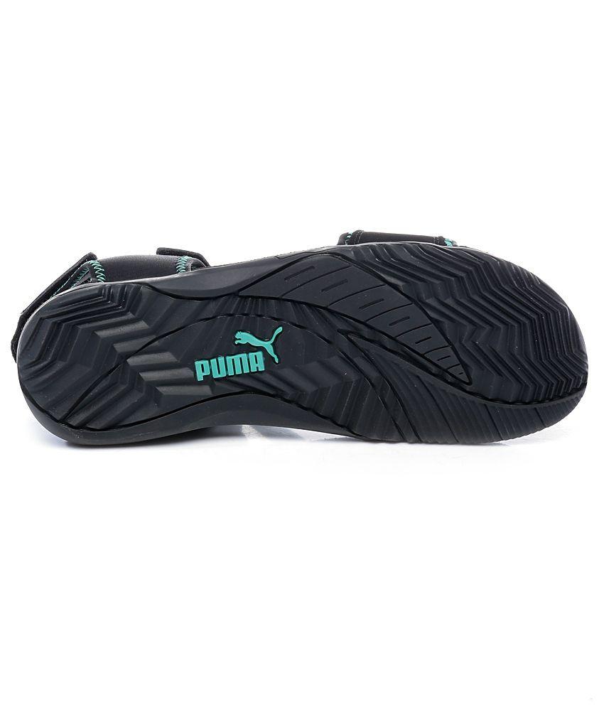 Puma black velcro sandals -  Puma Black Woody Dp Floater Sandals