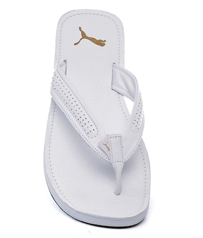 e5b29efee308 Puma White Java III Ind Slippers Price in India- Buy Puma White Java ...