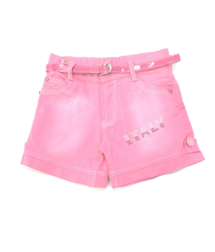 4s Pink Cotton Shorts