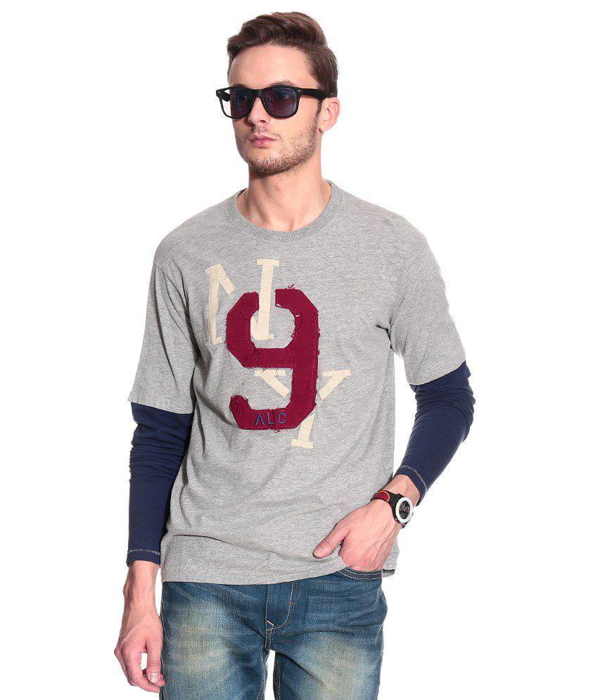 sito affidabile e248d bcc07 Alcott Grey & Black Full Sleeves T-shirt
