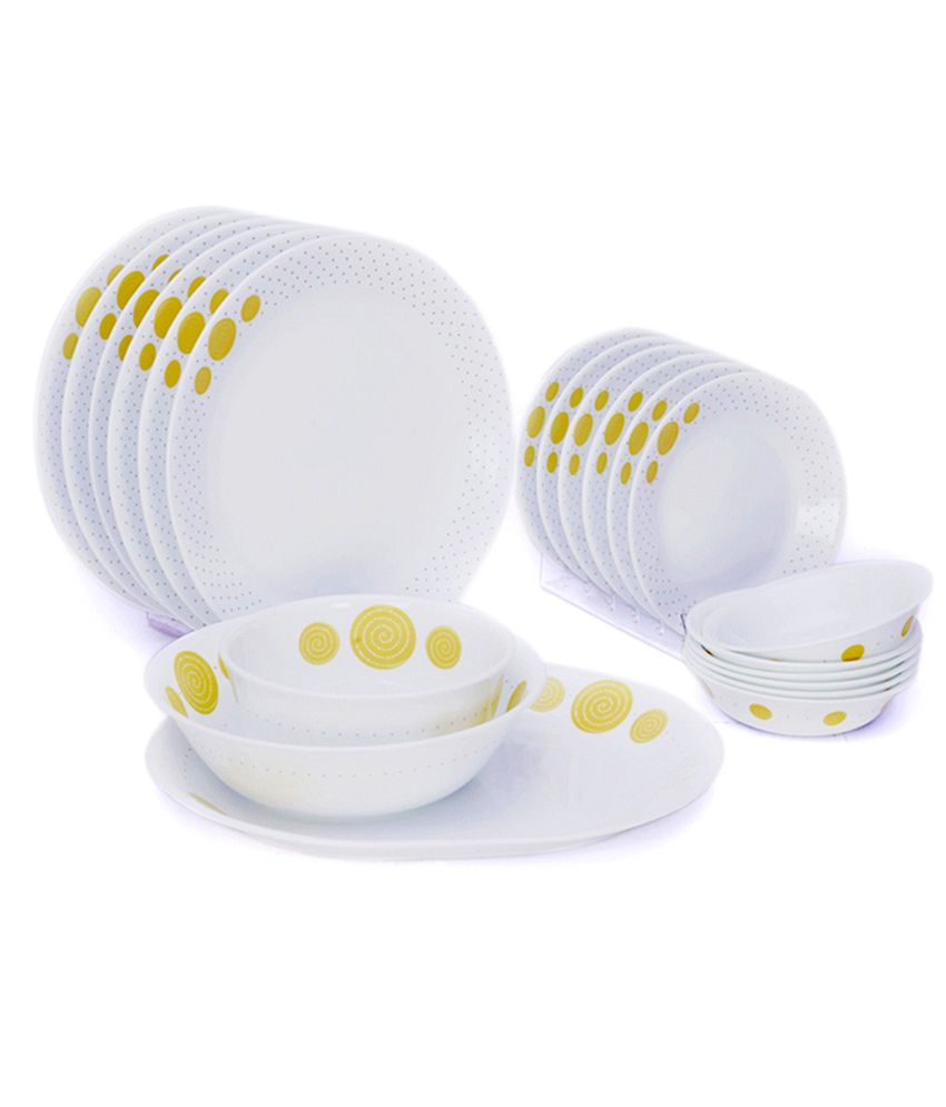Corelle 21 Pcs Dinner Set India Collection Spiral Buy Online At Best Price