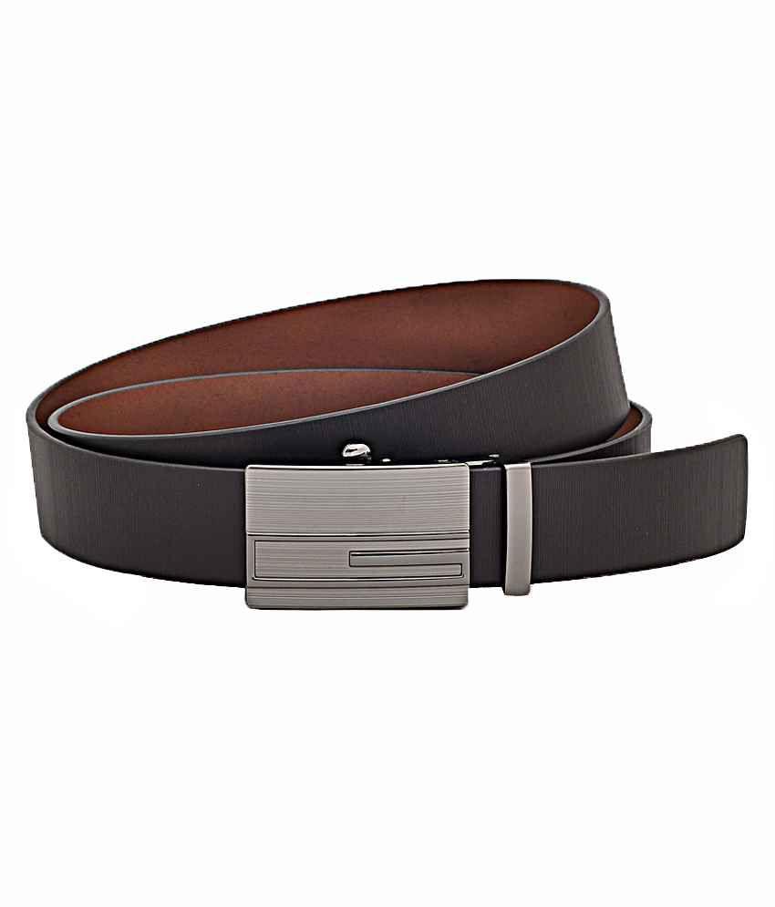Hawai Italian Leather Self-patterned Belt For Men