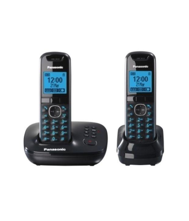 Panasonic Kx-tg 5522 Cordless Landline Phone ( Black )