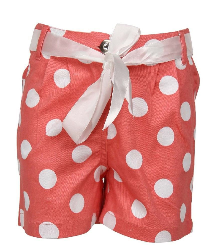 Daffodils Peach Color Shorts For Kids